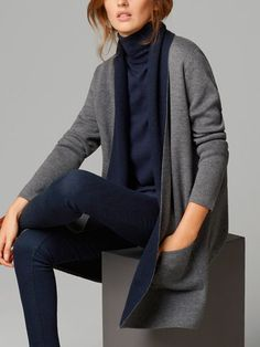 TWO TONE CARDIGAN = LOVE