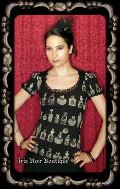 Lip Service Step In Time Steampunk Victorian Perfume Tee Top