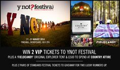#CountryAttire is sponsoring #YNOT #festival this #summer - enter our #competition to #win  amazing #prizes including tickets and a #VIP festival package http://bit.ly/11zD4qc