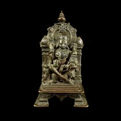 Indian and Himalayan : A Jain silvered bronze figure of the maternal deity, Ambika