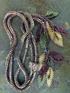 Seed bead leaves