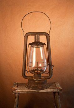 Rustic Antique Lantern  /  Industrial Decor 1800's