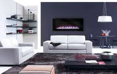Výsledek obrázku pro dark blue living room with fireplace