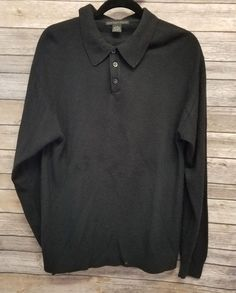 e131fa74 Geoffrey Beene Men's Polo Sweater Black Size L Long Sleeve pullover  #GeoffreyBeene #Polo Polo