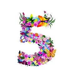 Number 5 vector
