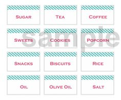 Custom Printable Labels (set of 12) $3.25