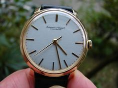 Vintage IWC gold watch