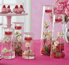 Symmetry Set by PartyLite® - Quintet of clear glass holders in graduated heights… Glass Holders, Candle Holders, Bougie Partylite, Candles Online, Wedding Decorations, Table Decorations, Diy Wedding, Wedding Ideas, Accent Decor