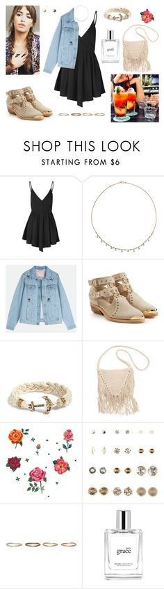 """30/04/17"" by milena-serranista ❤ liked on Polyvore featuring Glamorous, Annoushka, Balmain, Kiel James Patrick, Billabong, DOMESTIC, Charlotte Russe, Pearls Before Swine and philosophy"