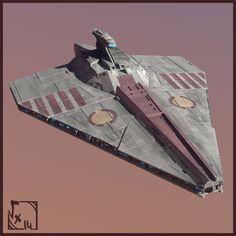 ArtStation - Star Wars - Redemption | Stardestoyer Class Acclamator, Etienne Beschet