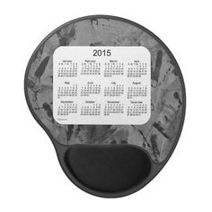2015 Calendar by Janz Black Tracks Gel Mouse Pad
