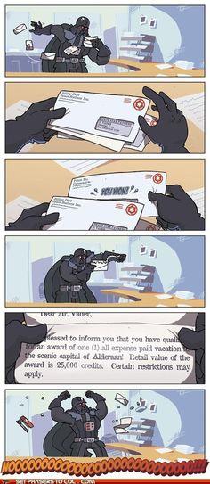 Darth Vader Wins Something