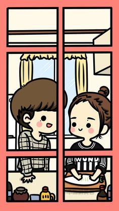 [Fanart] Pinocchio - Lee Jong Suk & Park Shin Hye  cr:小熊奶黄包