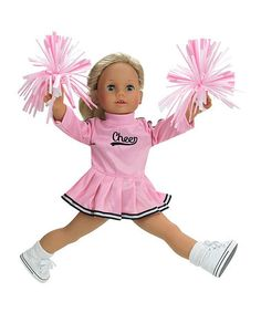 Another great find on #zulily! Pink Cheer Outfit for 18'' Doll by Sophia's #zulilyfinds
