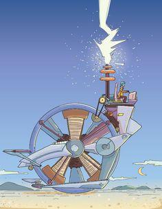 Portadas Steampunk para material educativo: Electricidad.