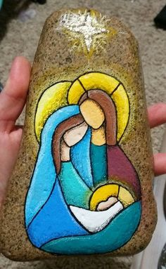 Nativity painted rock...beautiful!