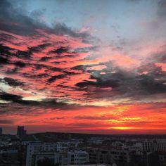 Ciel coucher de soleil Boulogne-Billancourt instaboulogne par @_fchartier_