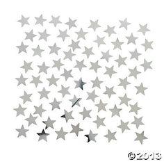 Silver Star-Shaped Confetti
