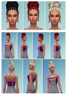Braid Knot on Top at Birksches Sims Blog via Sims 4 Updates