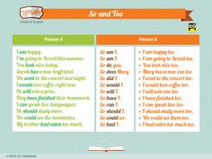 "A piece of Grammar: How to Use ""So"" and ""Too"". Grammar Tips, New Boyfriend, Learning English, English Grammar, I Am Happy, Writing Tips, Stuff To Do, How To Look Better, Teacher"