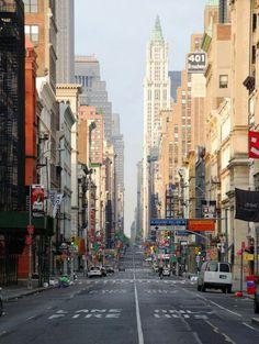 Sunday morning Broadway New York city
