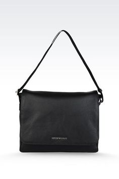 e34b114bb1dd Emporio Armani Men Messenger Bag - MESSENGER BAG IN TUMBLED CALFSKIN  Emporio Armani Official Online Store