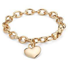 Blue Nile Puffed Heart Tag Bracelet (16 195 ZAR) ❤ liked on Polyvore featuring jewelry, bracelets, accessories, gold, joyas, 14k yellow gold bracelet, 14k gold bracelet, gold bracelet bangle, engraved bracelet and gold bracelet