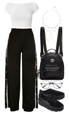 """Untitled #1387"" by bruna-linda-12 ❤ liked on Polyvore featuring Helmut Lang, Puma, Versace and Magda Butrym"