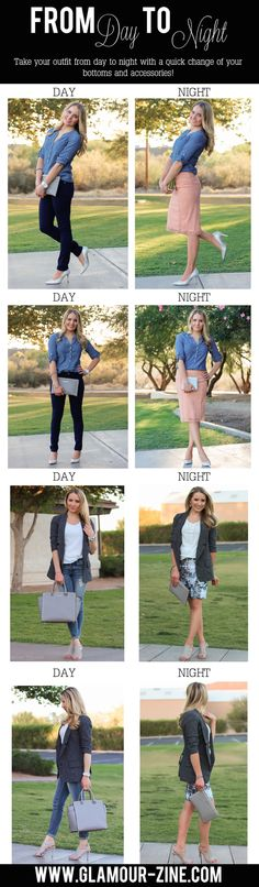 Easily Transition Your Outfit from Day to Night via @Glamourzine #FindYourYes ~Melisa