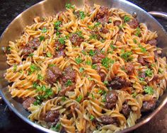 Pasta with Fennel, Sweet Sausage and Wine