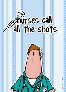 Male Nurse Call the Shots Nurses Day Greeting card by Corrie Kuipers