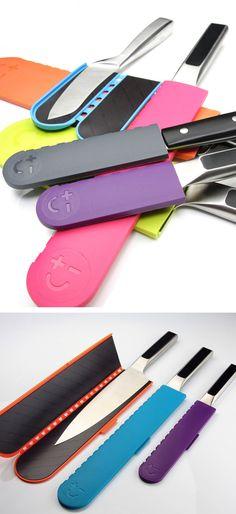 Knife-holding envelopes // safety + style #productdesign