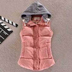 Dmart7deal Women Vest New Female Outwear Sleeveless Jacket Winter Down Cotton Warm Women Waistcoat Plus Size Casual Vest YL0375c