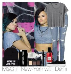 """""""M&G in New-York with Demi"""" by irish26-1 ❤ liked on Polyvore featuring Topshop, Vans, NLY Accessories, NARS Cosmetics and Diana Vreeland Parfums"""
