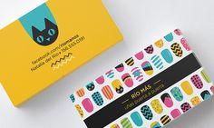 Diseño de tarjetas personales para Río Más, decoración de uñas.