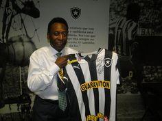Pelé esteve em General Severiano para gravar comercial de televisão.
