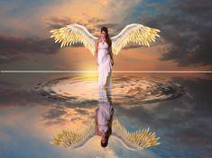 Ahogy a védőangyalod üzenni próbál neked! 1 Angel Wallpaper, Original Wallpaper, Wallpaper Backgrounds, The Better Angels, Bridge Painting, Free Angel, Panoramic Photography, Meditation, Angel Images