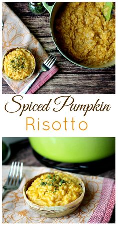 This savory Spiced Pumpkin Risotto was so easy to make and a really delicious way to add pumpkin to the side of any meal - or just enjoy it on its own!! It really is a perfect Fall recipe! And making risotto was so much easier than I thought it would be! | www.OurLittleEverything.com