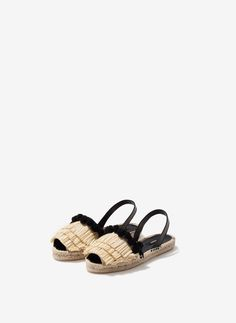 Uterqüe Finland Product Page - Footwear - See all - Raffia espadrilles - 75