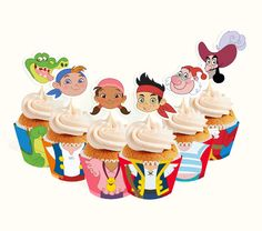 INSTANT DOWNLOAD Jake and the Neverland Pirates por PartyPopPrints