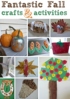 MORE Fun and educational fall crafts and games for preschool.