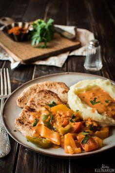 Paprikaschnitzel mit cremiger Sauce