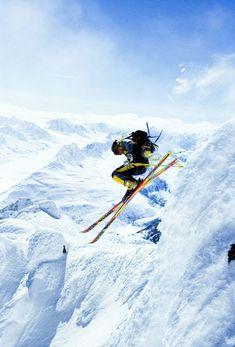 Skiing of mountain