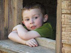 My grandson JJ looking out the window in Grafton, Utah...
