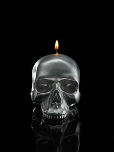 Skull Candle (Medium) by D.L.