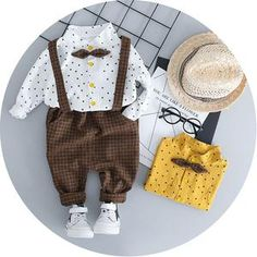 Complete with a plaid button-front and coordinating pants, this set is perfect for playtime or days out with Mom, and it fits for all occasion outfit. Toddler Boy Outfits, Toddler Boys, Baby Kids, Kids Outfits, Pants Outfit, Outfit Sets, Shorts E Blusas, Baby Boy Shirts, Valentines Outfits