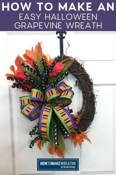 Easy Halloween, Halloween Themes, New Things To Try, Magnolia Leaves, Wreath Tutorial, Real Simple, Deco Mesh Wreaths, Handmade Home Decor, How To Make Wreaths