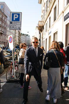 Lapo Elkann wearing Italia Independent #sunglasses #MFW15 http://www.smartbuyglasses.com/designer-sunglasses/Italia-Independent/Italia-Independent-II-0027-I-METAL-060/000-239242.html