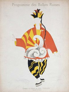 costume design for a Chinese Conjurer in Parade by Pablo Picasso, 1917