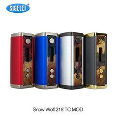 97.42$  Watch here - http://alifph.worldwells.pw/go.php?t=32791358522 - Electronic Cigarette Mod Sigelei Snowwolf 218 Box Mod 0.1-3.0ohm Adjustable 10w-218W TC  Vape Mod 97.42$